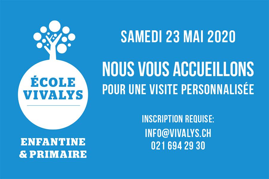 visite personnalisée de l'Ecole Vivalys